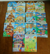 Lot 7 Mcdonalds Mickey And Friends Walt Disney World Epcot Happy Meal Boxes 1993