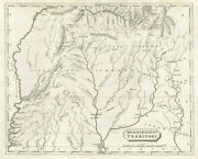 Mississippi Territory Map By Arrowsmith And Lewis. Alabama. Tribal Lands 1812