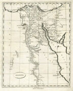Egypt By Arrowsmith And Lewis 1812 Old Antique Vintage Map Plan Chart