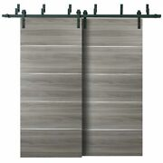 64 X 84 Barn Bypass Doors With 6.6ft Hardware | Planum 0020 Ginger Ash |