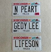 Rush Used Vanity Wi License Plates Neil Peart Geddy Lee Alex Lifeson