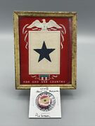 Wwii Blue Star Son In The Service Us Army Portrait Pin Framed Flag National Bank