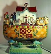 Jim Shore Noah's Ark And Noah Did All That The Lord Commanded Him Enesco 118730