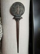 Rare Antique Advertising Letter Opener British Law Insurance Company Stunning