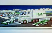 2003 Hess Toy Truck And Race Cars Tractor Truck With Trailer Original Box