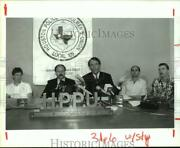 1992 Press Photo Richard Cobband039s Press Conference With Hpd Officers And Hppu