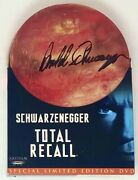 Arnold Schwarzenegger Signed Special Limited Edition Total Recall Dvd Jsa Loa
