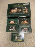New Bright Holiday Express Animated Train Set 1997 Lot Of 6 Station And Extra Cars