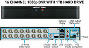 Dvr Night Owl Dvr, 16 Channel 1080p Video Security System With 1-tb Hdd.