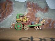 Vintage Toy Japanese Coach Wooden Miniature Handcarved Coach Celluloid Figures