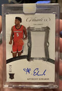 2020 Flawless Anthony Edwards Rookie Patch On Card Auto Andrsquod 02/20 Cased