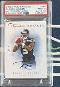 🔥2012 Prime Signatures Russell Wilson Rookie Auto Rc Gold 12/25 Psa 9/10 Mint🔥