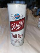 Schlitz Tall Boy 1973 24 Oz Steel Pull Tab Beer Cans Sealed Never Filled Rare