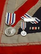 ➡➡ww2 Rare Kingand039s Medal Service In The Cause Of Freedom + Miniature And Bar Wwii