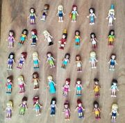 Lego Friends Lot Of 18 Minifigures Dolls Horses Animals Bunny Puppy Dogs