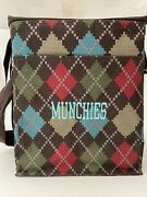 Thirty One Picnic Thermal Cooler Tote Windsor Argyle Pattern Munchies
