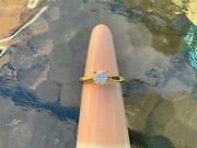 Stunning Clear 18 Carat Yellow Gold Vvs F Colour Andnbsp0.93 Ct Solitaire Diamond Ring