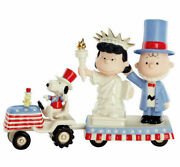 Peanuts Independence Day - Charlie Brown And Lucy - Lenox - New