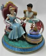 Disney Cinderella With And Shoe Snow Globe Slipper Music Box A Dream Is A..