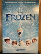Disney Frozen Thick Board Movie Theater Poster 40 X 27 Display Poster