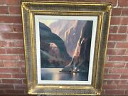 Original Charles H Pabst Southwest Oil Painting Canyon Mystery W/gallery Tag