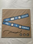 Lawrence Weiner Signed Edition Time Is Temporal Limitiert Original Signiert 2014