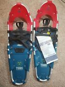 Tubbs Venture Snowshoes Red And Blue Made In Usa 9x28 New With Tags