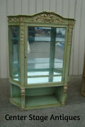 60650 Antique Victorian Solid Oak Curio China Cabinet Quality Fuldner