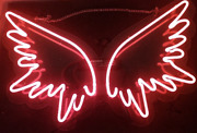 New Angel Wings Red Neon Lamp Sign 17x14 Acrylic Bright Light Bedroom Bar Pub