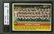 1956 Topps 213 Detroit Tigers 1955 Team Card Ksa 9 Really Nice Picture Quality