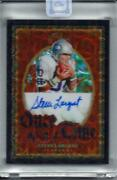 Steve Largent 2020 Panini One Once Upon A Time Black Prizm Auto Autograph 7/10