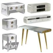 Vintage Coffee Table Tv Stand Bedside Nightstand Table Furniture Set Pilot Style