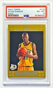2007-08 Topps Kevin Durant 1703/2007 Gold Border Sp Rookie Rc Psa 6 Ex-mt