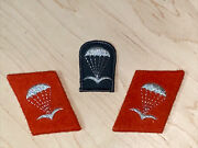 Ddr/ East German Paratrooper Enlisted Collar Tabs And Beret Flash Silver