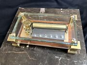 Reuge 72 Note Music Box With Glass Case - Swiss Made - Crystal Box / Column Feet