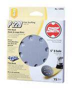 Shopsmith 12056 220 Grit Extra Fine Hook And Loop Sanding Disc 5 Dia. In.