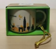 Starbucks You Are Here Collection Ornament Limited Cup Mug New Box New York
