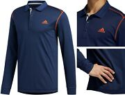 Adidas Golf Long Sleeve Thermal Polo Shirt - Rrpandpound80 - Cold Weather - Navy