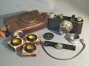 Rare Leica I Model C 53283 1930 With Hektor 125 F=50mm 3 Filters