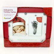 Babyprints Holiday Frame Baby's First Christmas Photo Frame W/ Foot Or Handprint