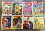 Vintage 70's Whitman Frame Tray Puzzles Lot Of 8 Sesame Street Pink Panther