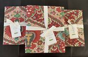 Pottery Barn Full/queen Darcy Red Duvet Cover And 2 Standard Shams Sold Out/bnwt