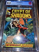 Crypt Of Shadows 1 Cgc 8.5 Double Cover Marvel Comics 1973 Bronze Age Horror