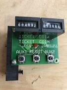 Skeeball Tower Of Power Arcade Ticket Coin Counter Board Reset Button And Mount 2
