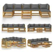 Garden Lounge Chair W/ Cushion Outdoor Patio Table Sectional Sofa Set Furniture