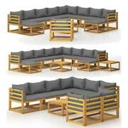 Outdoor Lounge Table Chair W/ Cushion Patio Sectional Sofa Set Corner Furniture