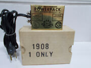 Nos Boxed Marx Road Racing Ho Powerpack Toy Transformer 1908 8 Volts Dc Train