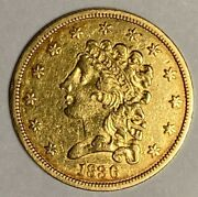1836 Block 8 Extra Fine Xf 2.50 Classic Head Us Gold Coin
