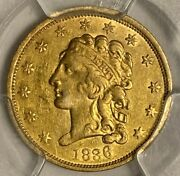 1836 Block 8 Pcgs Xf Details Cleaning 2.50 Classic Head Us Gold Coin