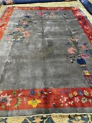 Antique Chinese Art Deco Rugs In Good Condition 8.11x11.79320